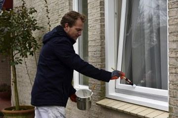 Buitenschilderwerk kan het hele jaar door gebeuren, ook in de winter kan er geschilderd worden